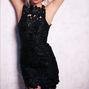 Saylor x Free People Jessa Foil Lace Dress
